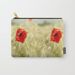 Poppy in the grain field Carry-All Pouch
