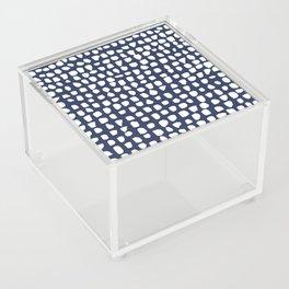 Dots / Navy Acrylic Box