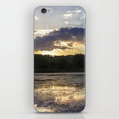 Sunset on Mississippi River iPhone & iPod Skin