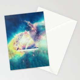 Awsome collosal deep space triangle art sign Stationery Cards