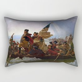 George Washington Crossing Of The Delaware River Painting Rectangular Pillow