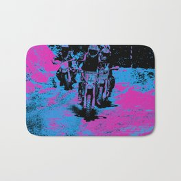"""Born to Race"" Motocross Dirt-Bike Racers Bath Mat"
