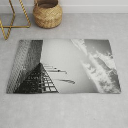 Jetty in Black and White Rug