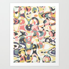 Deco Tumble Art Print