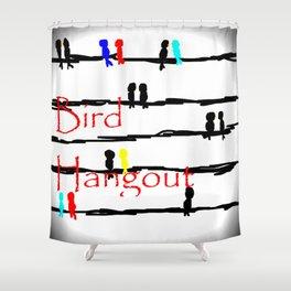 Bird Hangout Shower Curtain