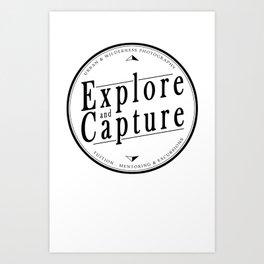 Explore and Capture Logo 1 Art Print