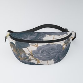 blue flowers Fanny Pack