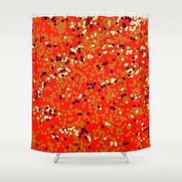 dots on red Shower Curtain