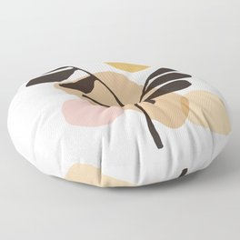 Abstraction_Bohemian_Plant_SUN_ART_Minimalism_002B Floor Pillow