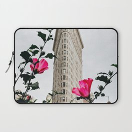 Pink Flowers in New York City (Color) Laptop Sleeve
