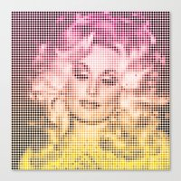 dolly parton Canvas Prints featuring Dolly Dots by Hoeling
