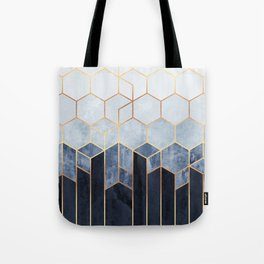 Soft Blue Hexagons Tote Bag