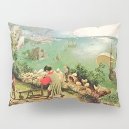 Landscape With The Fall Of Icarus Painting Pieter Bruegel The Elder Pillow Sham