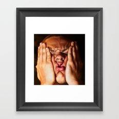 smoosh face Framed Art Print
