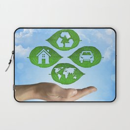 recycling eco concept Laptop Sleeve