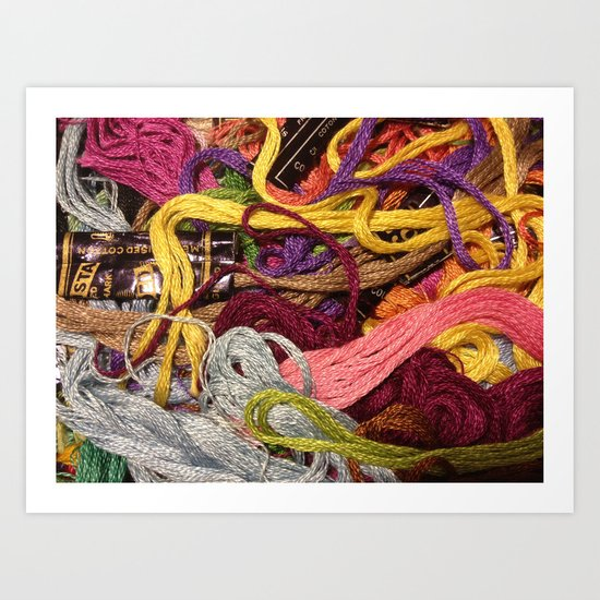Ordered chaos // still life Art Print