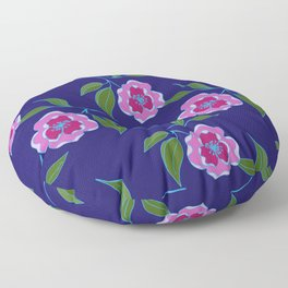 Peony Floral Floating Pattern Floor Pillow