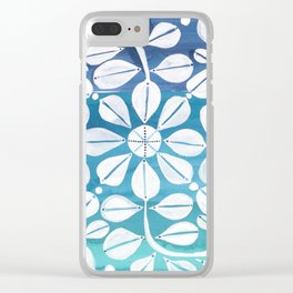Blue Zellige Clear iPhone Case