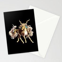 golden unicorn Stationery Cards