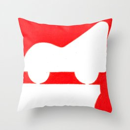Parkway in Red Throw Pillow