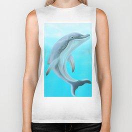Dolphins Swimming in the Ocean Biker Tank