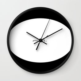 Circle Meh. Wall Clock