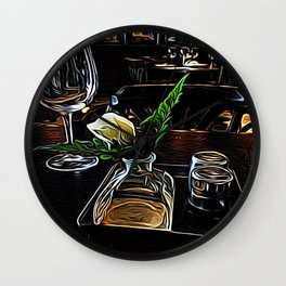The Leaning Flower of Pisa Wall Clock
