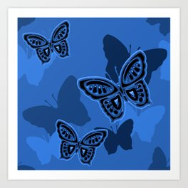 Iron Butterfly Camouflage Art Print