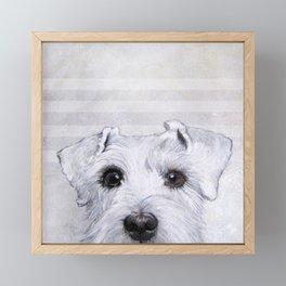 Schnauzer original Dog original painting print Framed Mini Art Print