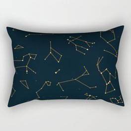 Bronze Constellations Rectangular Pillow