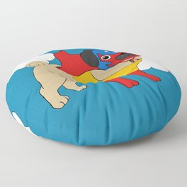 Lucha Libre Pug Floor Pillow
