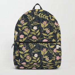 Blush Climbing Floral Pattern Backpack