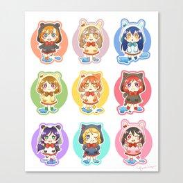 Rainy μ's Babies Canvas Print