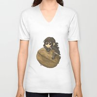 kili V-neck T-shirts featuring Kili&Walnut by AlyTheKitten