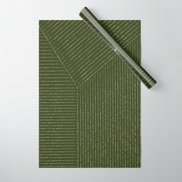 Lines (Olive Green) Wrapping Paper