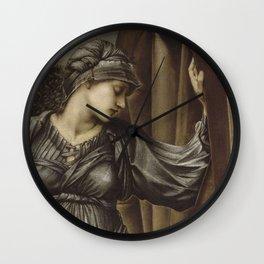 Edward Burne-Jones - The Wheel Of Fortune Wall Clock