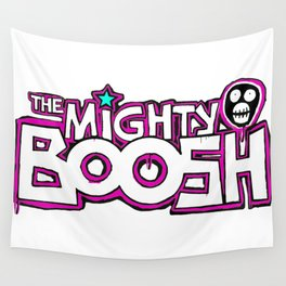 Mighty Boosh Logo, Colourful, Funky, Funny Wall Tapestry