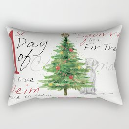 FIRST DAY OF CHRISTMAS WEIMS Rectangular Pillow