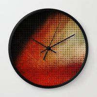 planet Wall Clocks featuring Planet by Emma Harckham
