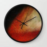 planet Wall Clocks featuring Planet by Emma Harckham