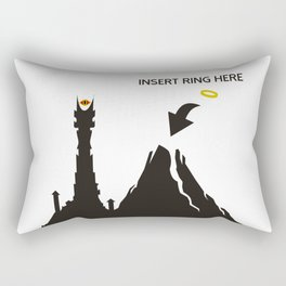 Lord of the Ring Intructions Rectangular Pillow