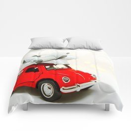 Red Car Christmas Present (Color) Comforters