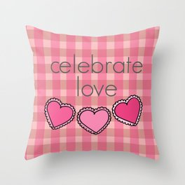 Celebrate Love! Throw Pillow