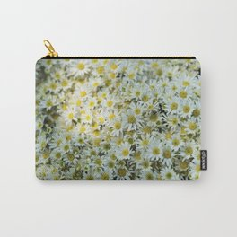 White Daises Carry-All Pouch