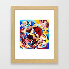 Expressive Abstract People Music Composition painting Framed Art Print