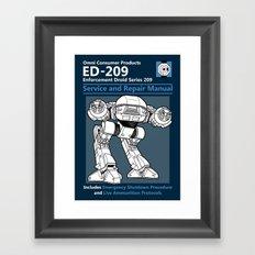 ED-209 Service and Repair Manual Framed Art Print