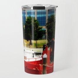 Little red tug Boat Travel Mug