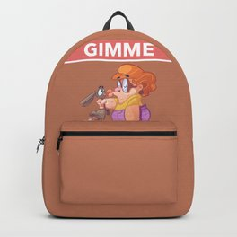 Poor Dog with its Owner Lady gimme kisses Design Backpack