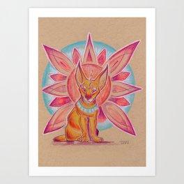 Mandala Caracal Art Print