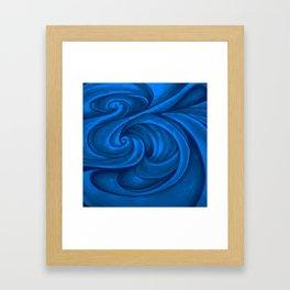swirl (dark blue) Framed Art Print